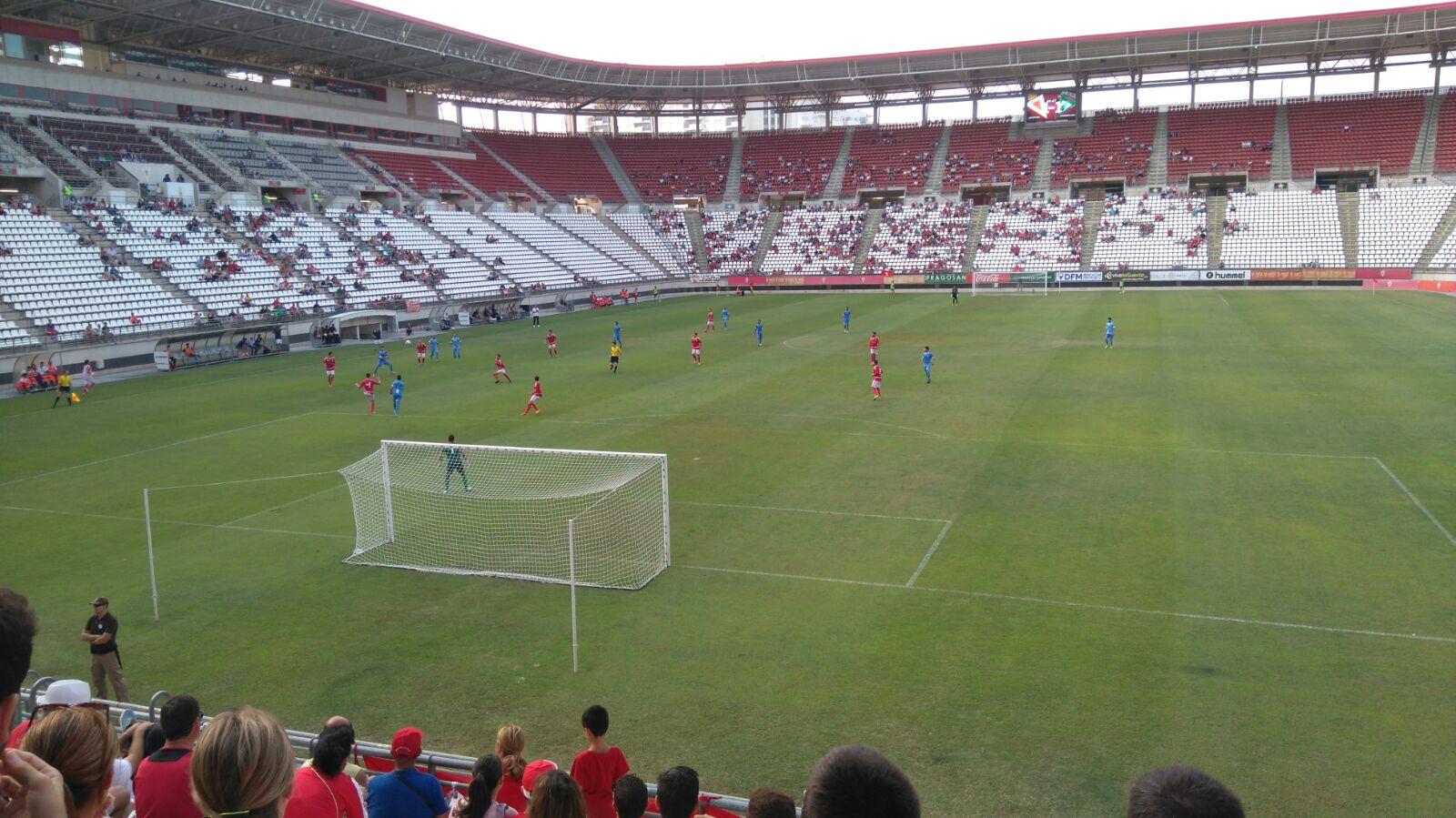 Segundo partido del Real Murcia en esta recién inaugurada temporada en  Segunda B y segundo pinchazo de los pimentoneros que e9942df1c199b